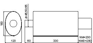 Ulter Sport äänenvaimennin NM-142/90RS